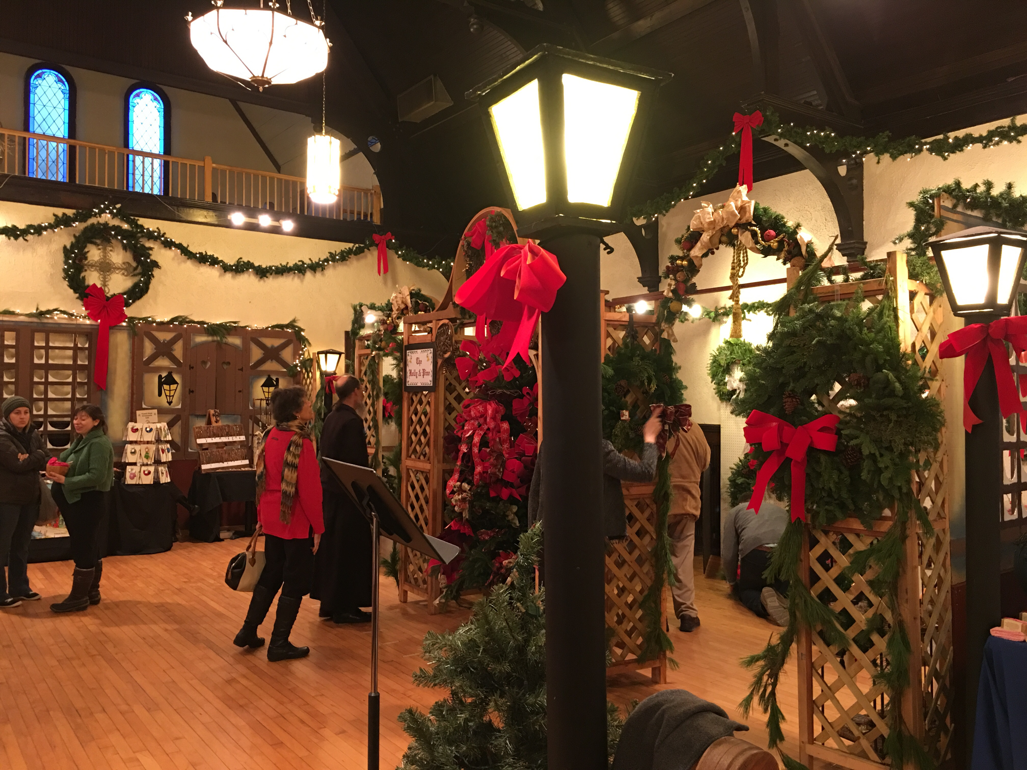 An annual Christmas tradition for my mom and me is a visit to The Old World Christmas Village & Market the first Friday in December.